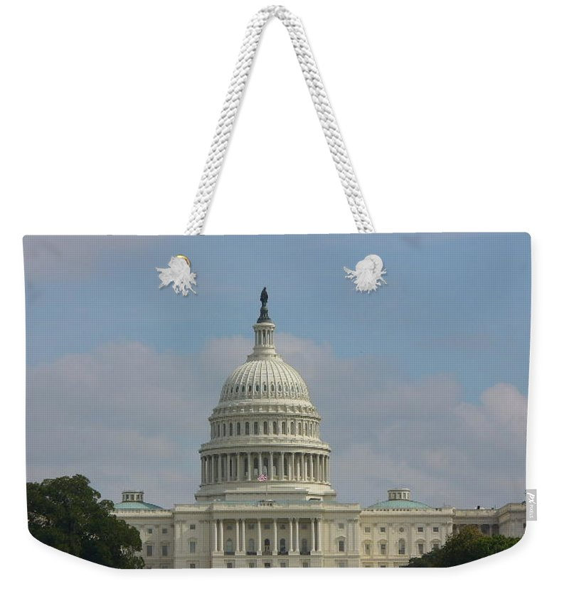 Washington Dc Weekender Tote Bag featuring the photograph DC by Lord Frederick Lyle Morris