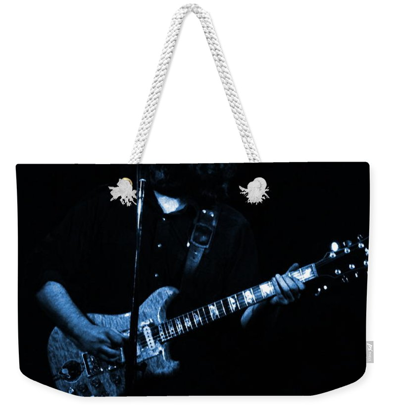 Grateful Dead Weekender Tote Bag featuring the photograph Dead #29 In Blue by Ben Upham