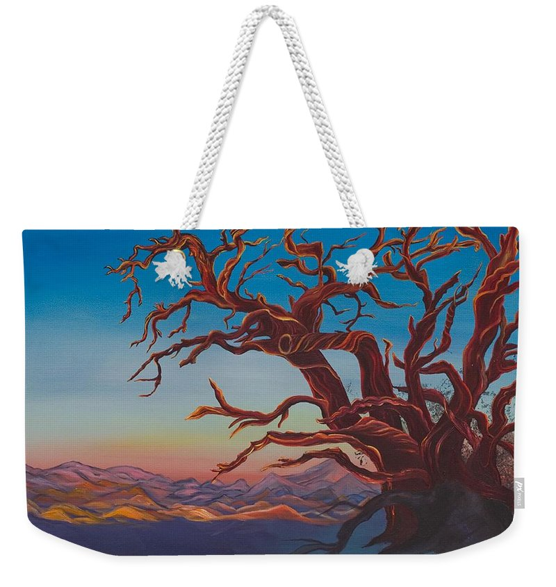 Bright Weekender Tote Bag featuring the painting Still Life by Yolanda Raker