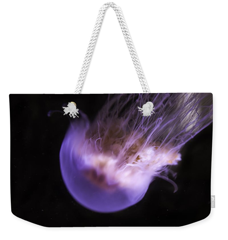 Jellyfish Weekender Tote Bag featuring the photograph Deadly Beauty by Madeline Ellis