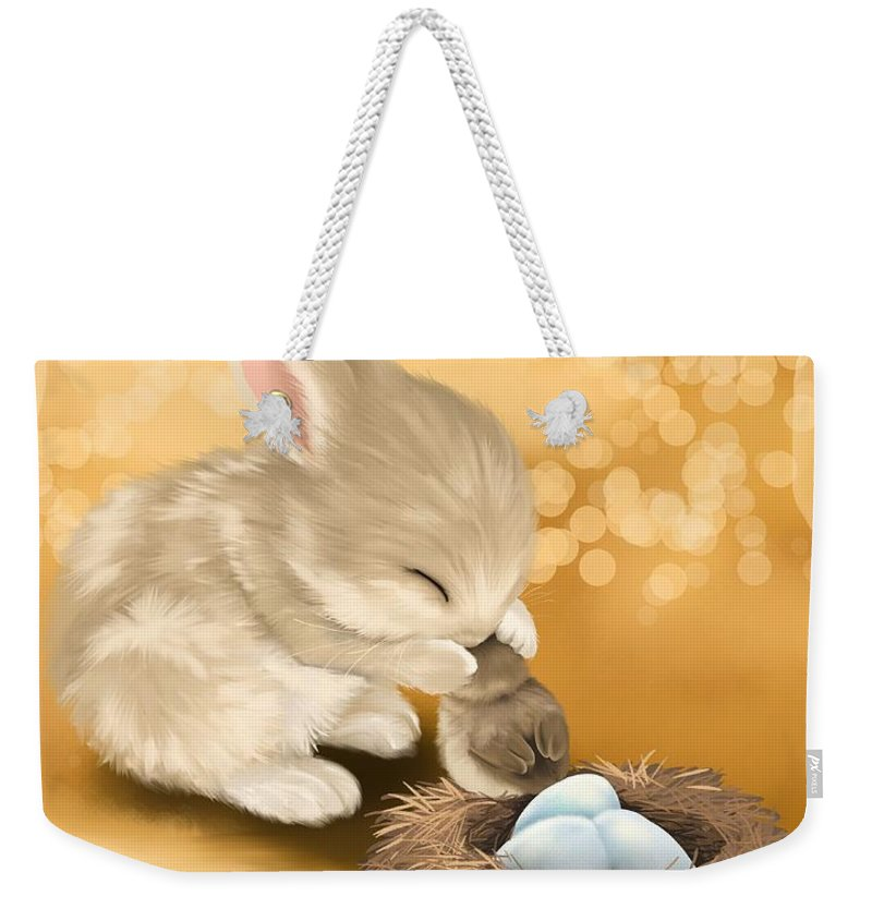 Friend Weekender Tote Bag featuring the painting Dear Friend by Veronica Minozzi
