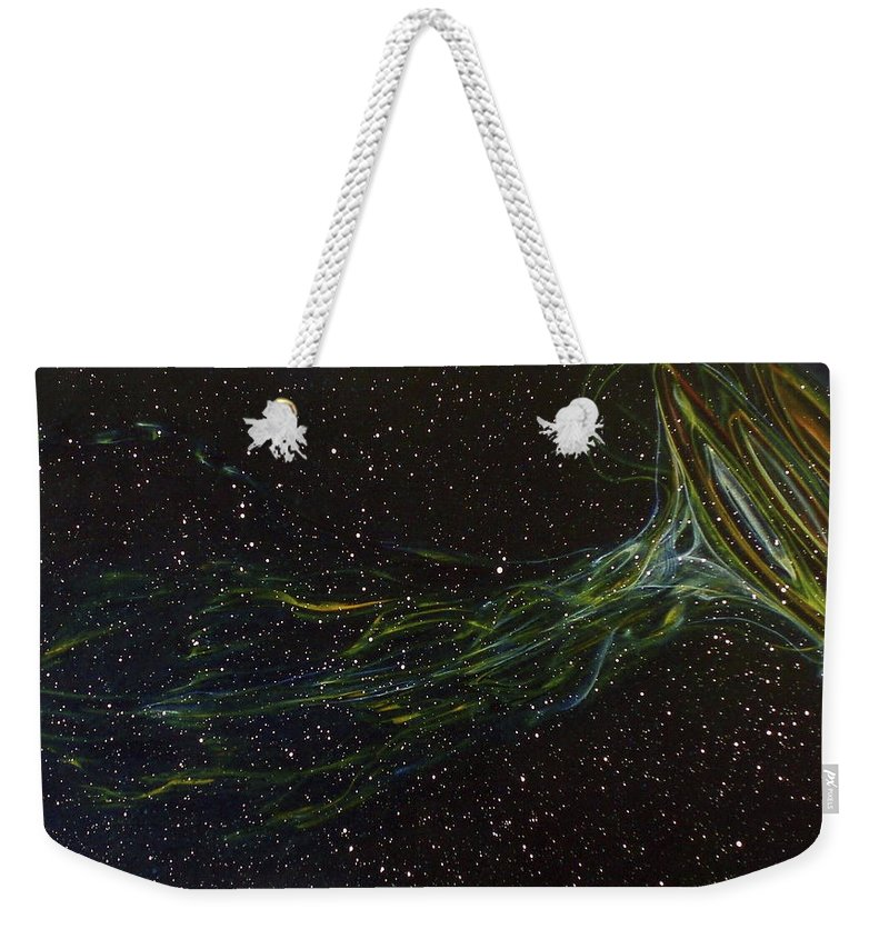 Abstract Weekender Tote Bag featuring the painting Death Throes by Sean Connolly