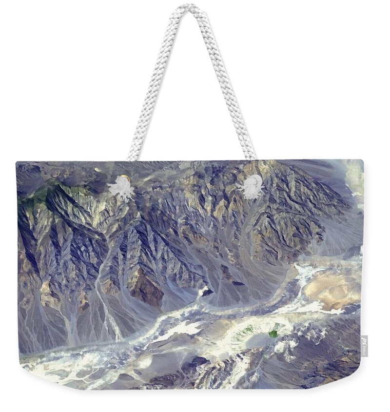 Death Valley From Outer Space Weekender Tote Bag featuring the photograph Death Valley From Outer Space by Nasa Jpl