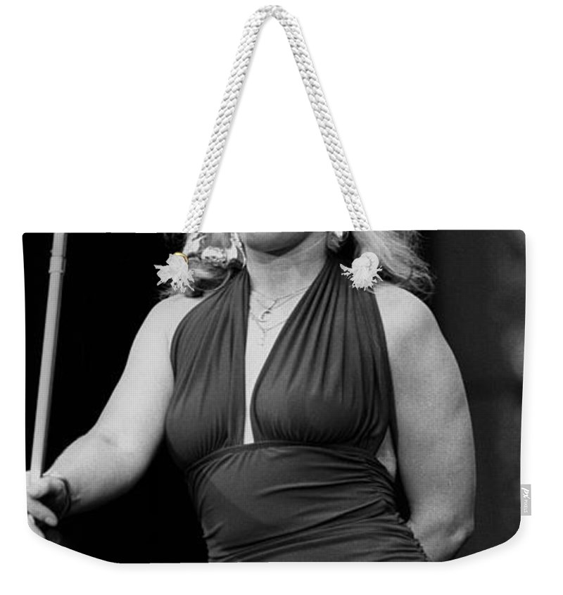 Liveconcert Appearance Weekender Tote Bag featuring the photograph Deborah Harry by Concert Photos