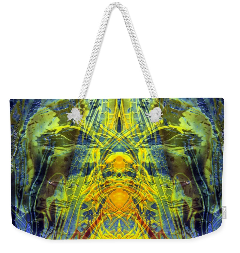 Surrealism Weekender Tote Bag featuring the digital art Decalcomaniac Intersection 1 by Otto Rapp