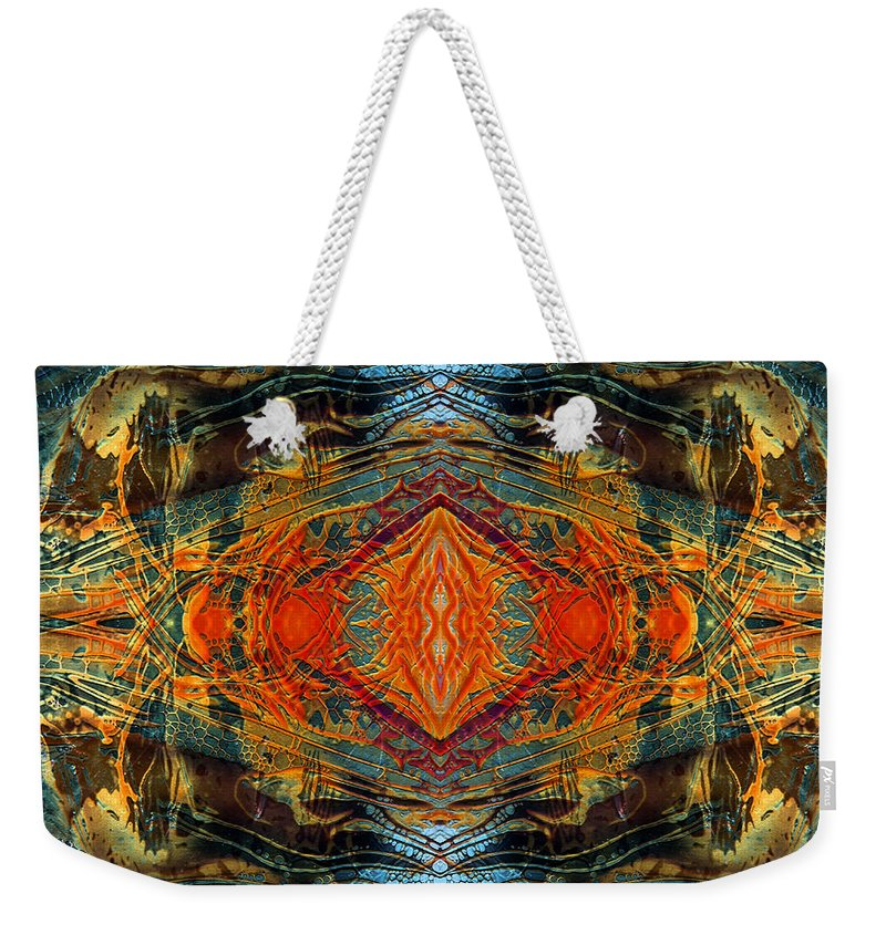 Surrealism Weekender Tote Bag featuring the digital art Decalcomaniac Intersection 2 by Otto Rapp