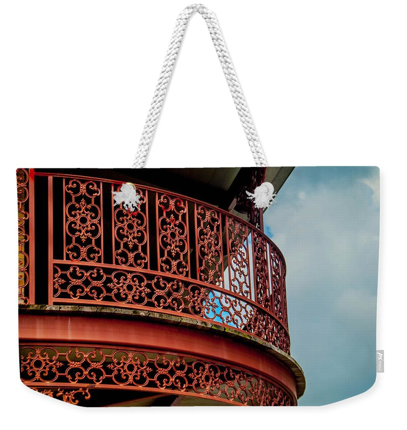 Balcony Weekender Tote Bag featuring the photograph Decorative Balcony by Jon Cody