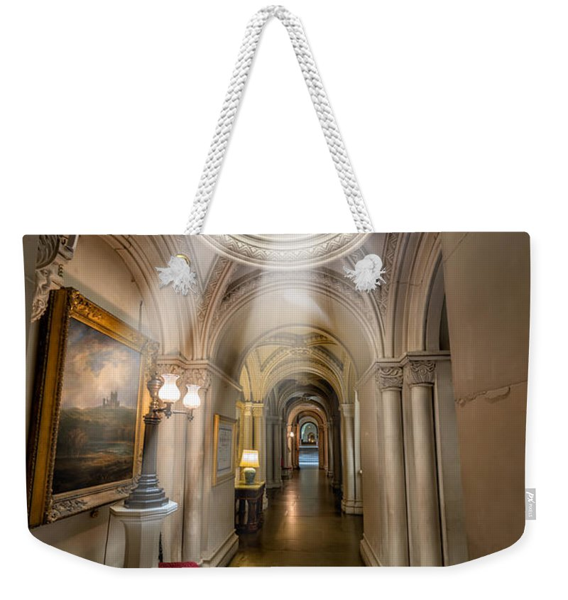 British Weekender Tote Bag featuring the photograph Decorative Hall by Adrian Evans