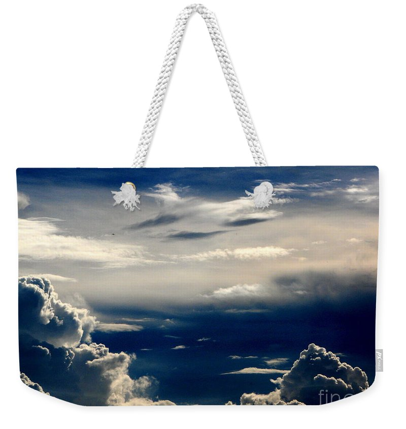 Art For The Wall...patzer Photography Weekender Tote Bag featuring the photograph Deep Blue by Greg Patzer