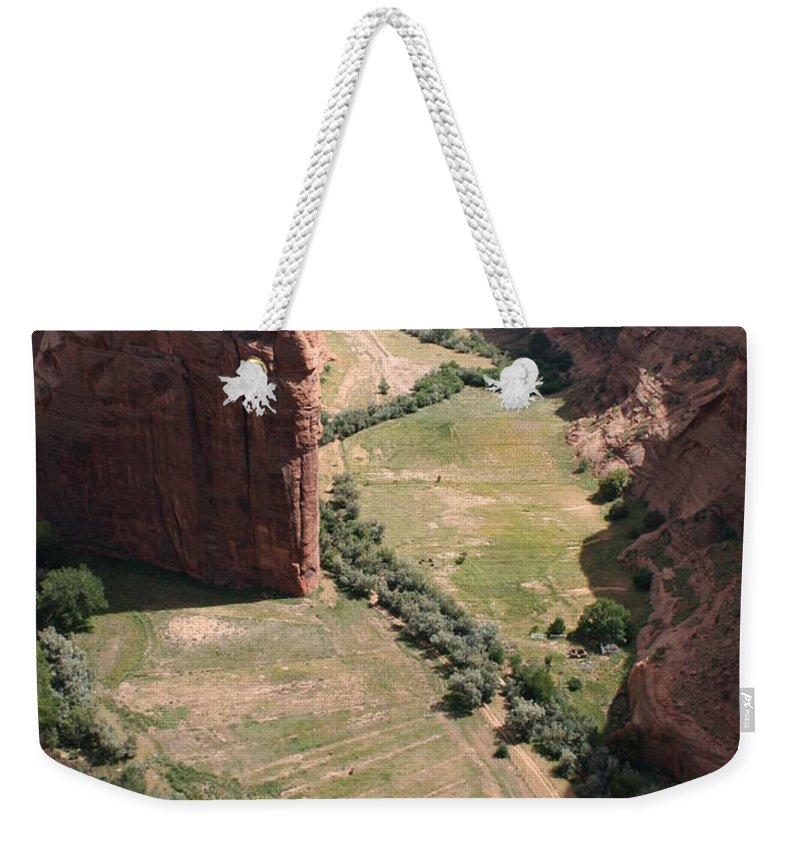 Canyon Weekender Tote Bag featuring the photograph Deep Canyon De Chelly by Christiane Schulze Art And Photography