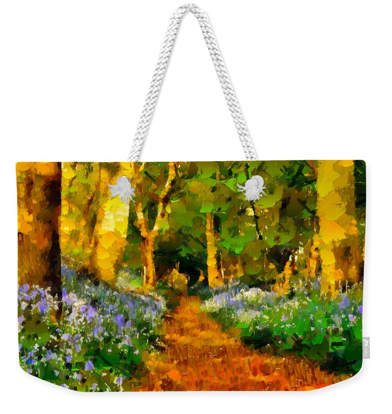 Impressionism Weekender Tote Bag featuring the painting Deep In A Forest by Georgiana Romanovna