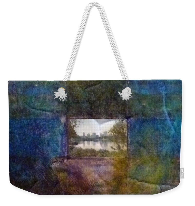 Urban Landscape Weekender Tote Bag featuring the mixed media Deep Memory by Barbara Oertli
