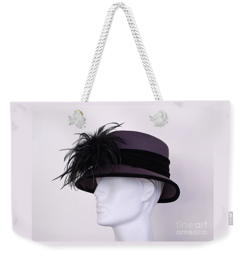 Hat Weekender Tote Bag featuring the photograph Deep Purple by Ann Horn