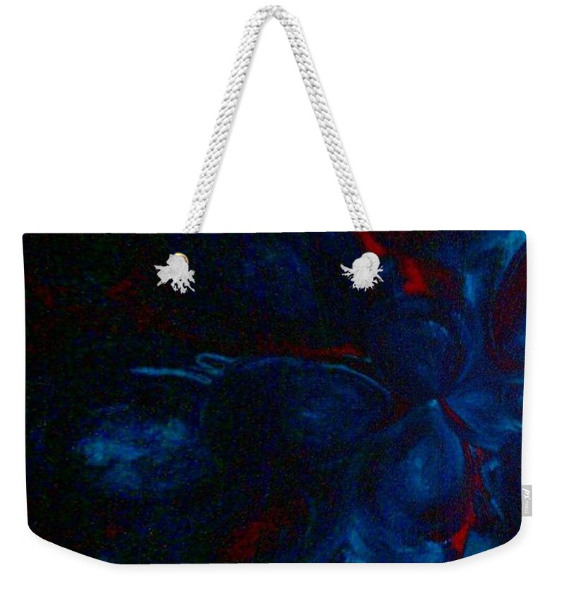 Deeper Still Weekender Tote Bag featuring the painting Deeper Still by Jacqueline McReynolds
