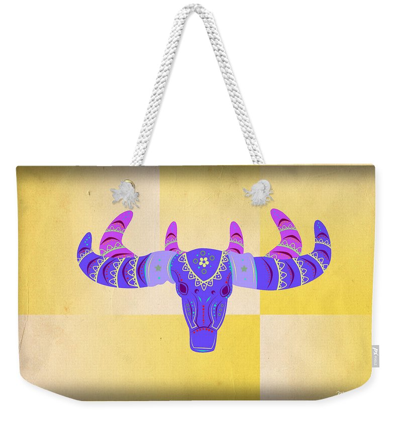 Deer Weekender Tote Bag featuring the digital art Deer 2 by Mark Ashkenazi