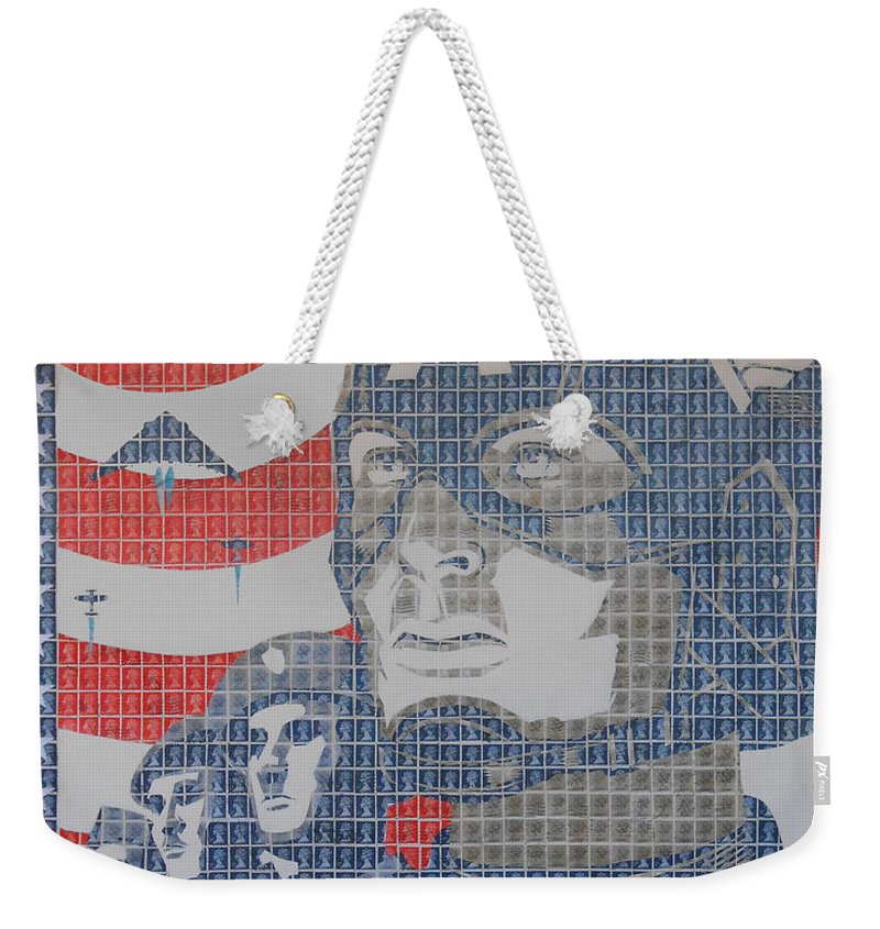 Capt Weekender Tote Bag featuring the painting Defend The Nation by Gary Hogben