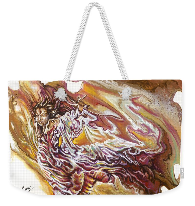 Defiance Weekender Tote Bag featuring the painting Defiance by Karina Llergo