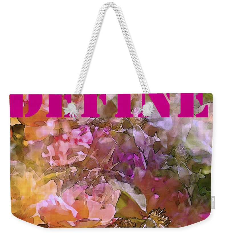 Define Happiness Weekender Tote Bag featuring the photograph Define Happiness by Pamela Cooper