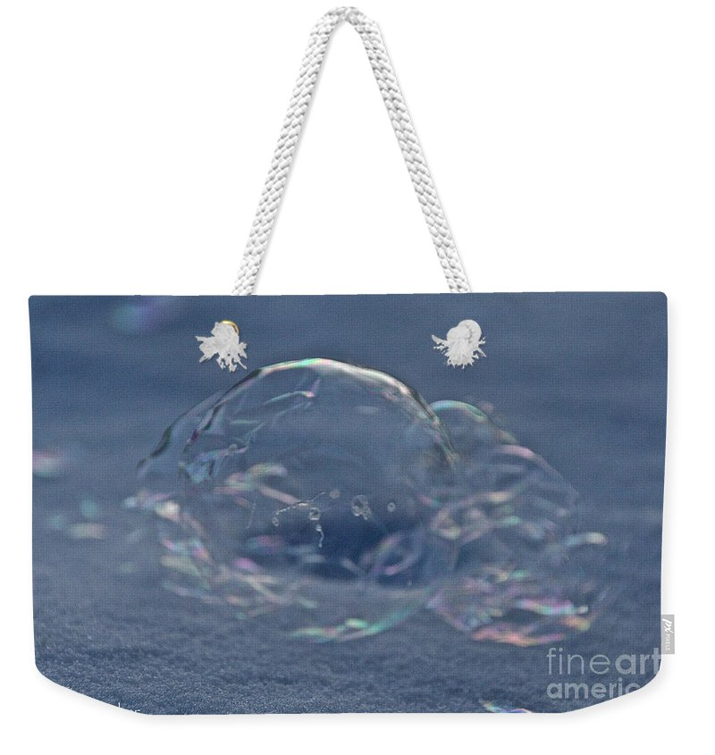 Outdoors Weekender Tote Bag featuring the photograph Deflating Ice by Susan Herber