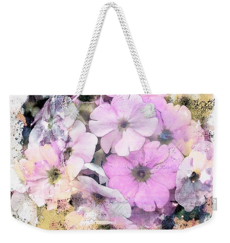Pink Weekender Tote Bag featuring the photograph Delicate Bouquet by Joyce Baldassarre