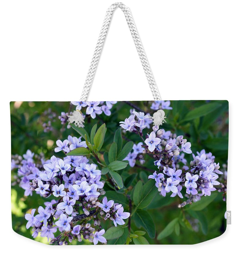 Flower Weekender Tote Bag featuring the photograph Delicate Flowers 3 by Brent Dolliver