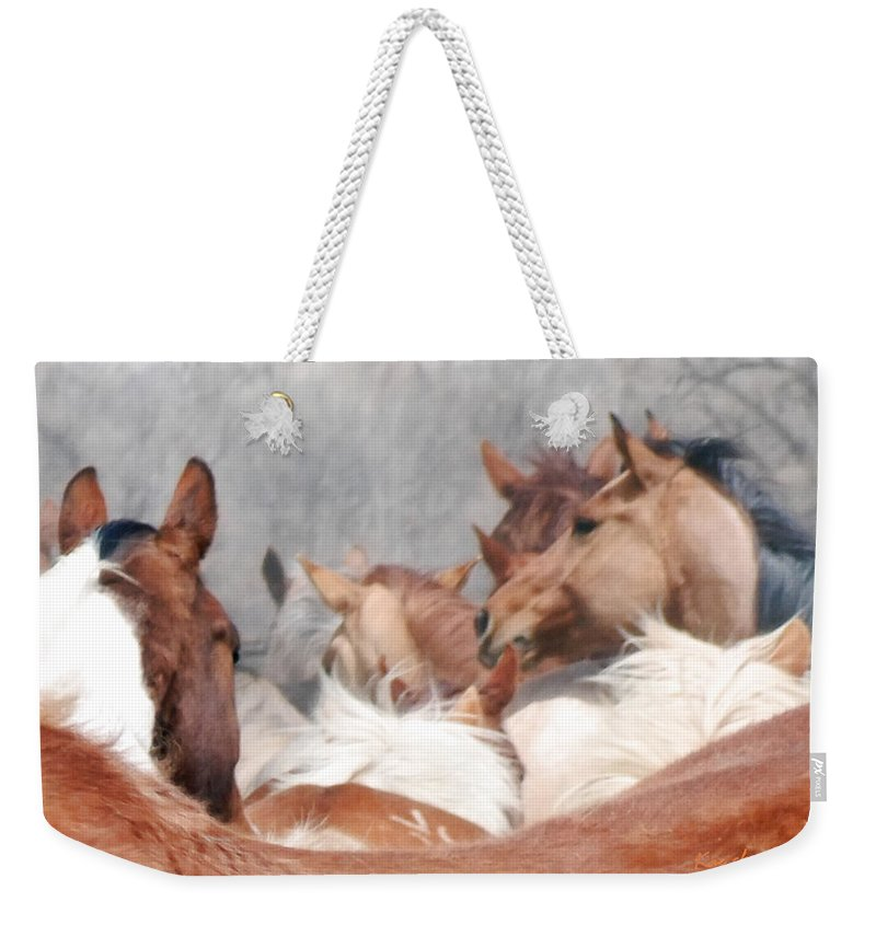 Horses Weekender Tote Bag featuring the photograph Delicate Illusion by Kae Cheatham