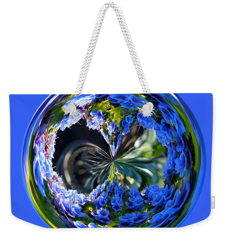 Orb Weekender Tote Bag featuring the photograph Delicate Orb by Brent Dolliver