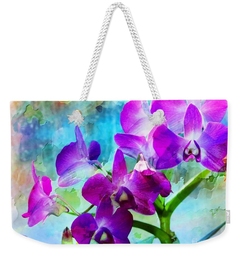 Orchid Weekender Tote Bag featuring the photograph Delicate Orchids by Kathleen Struckle