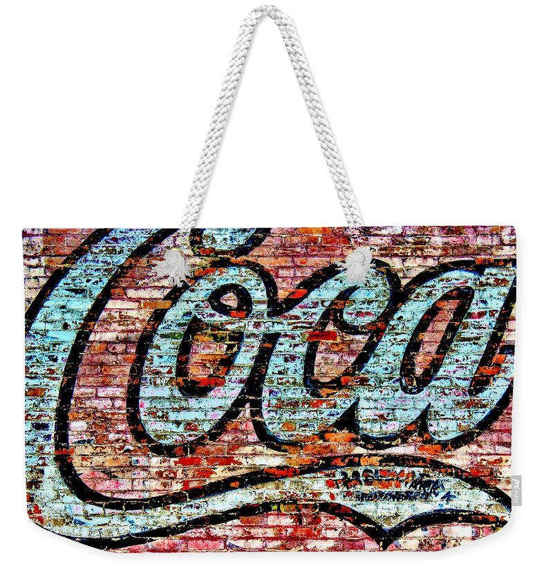 Coke Weekender Tote Bag featuring the photograph Delicious by Benjamin Yeager