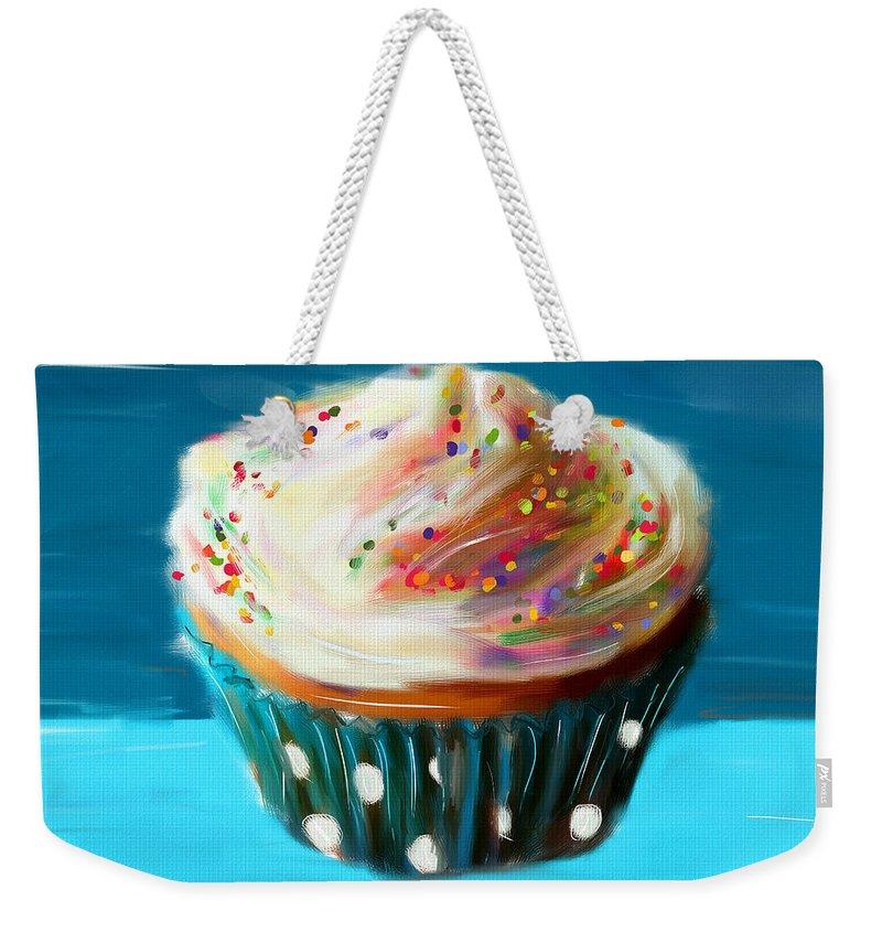 Cupcakes Weekender Tote Bag featuring the digital art Delightful Sprinkles by Lourry Legarde