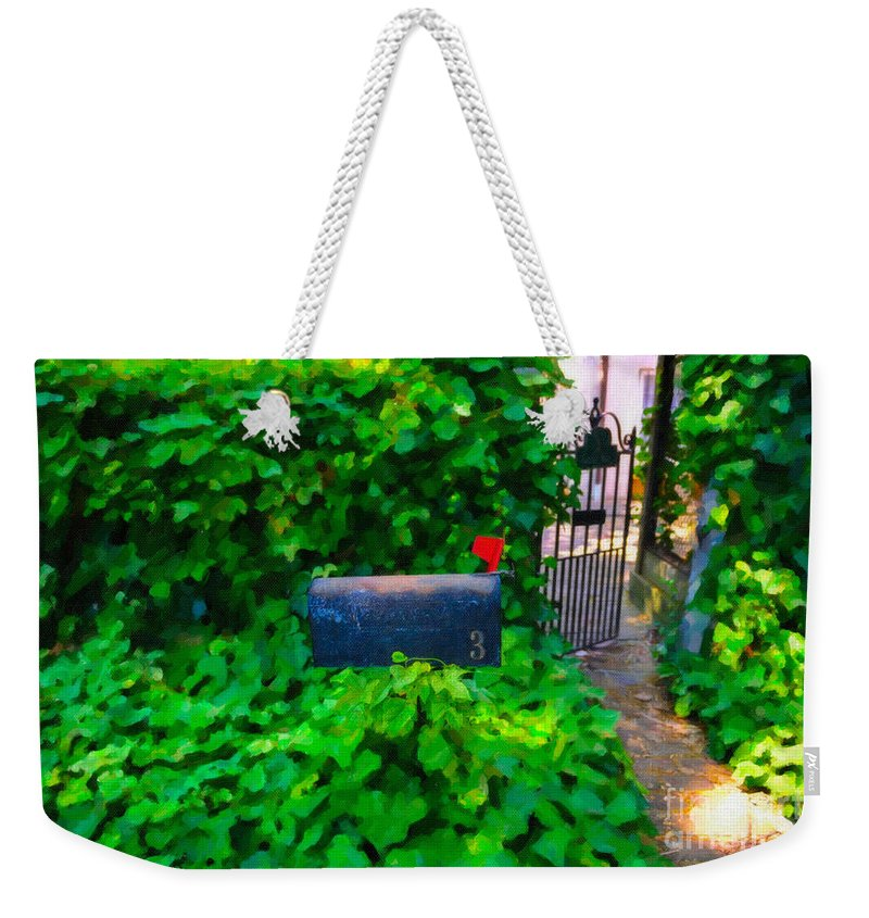 Mailbox Weekender Tote Bag featuring the digital art Deliver The Mail by Dale Powell