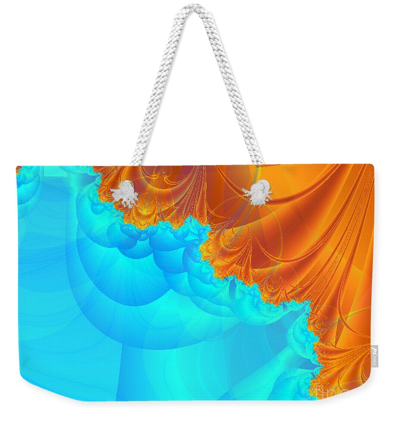 Weekender Tote Bag featuring the digital art Demons Or Angels by Dana Haynes