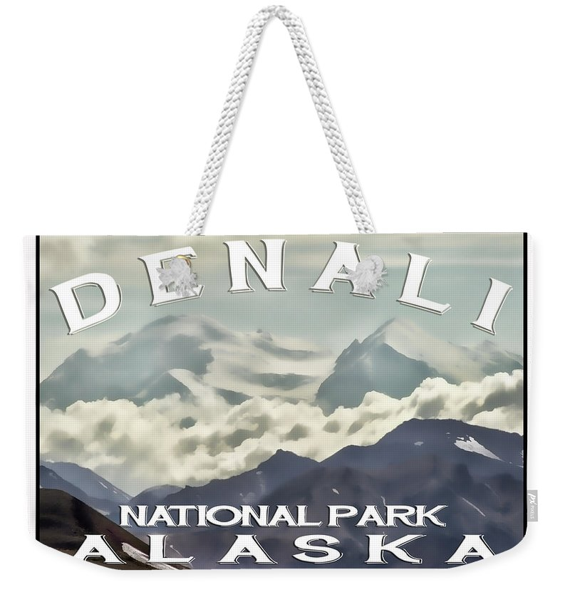 Denali Weekender Tote Bag featuring the photograph Denali Postage Stamp by Heather Applegate