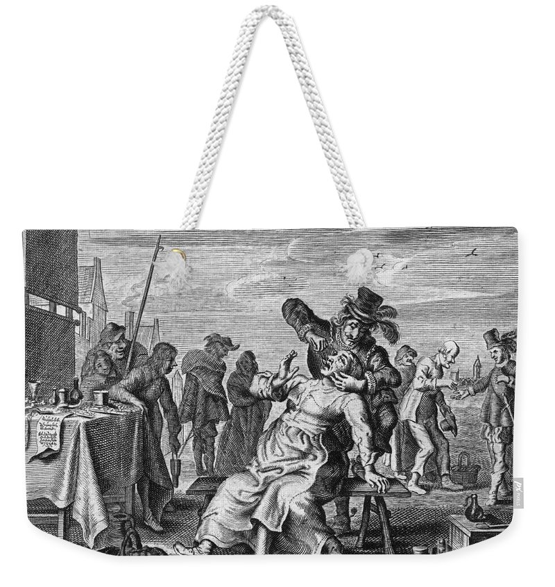 18th Century Weekender Tote Bag featuring the photograph Dentistry, 18th Century by Granger