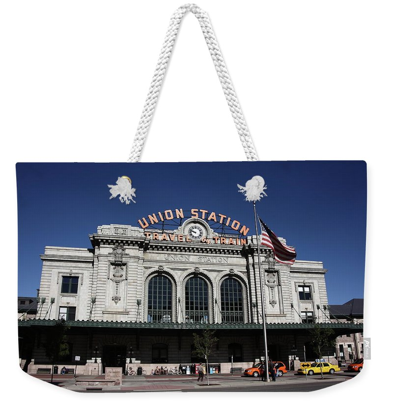 America Weekender Tote Bag featuring the photograph Denver - Union Station by Frank Romeo