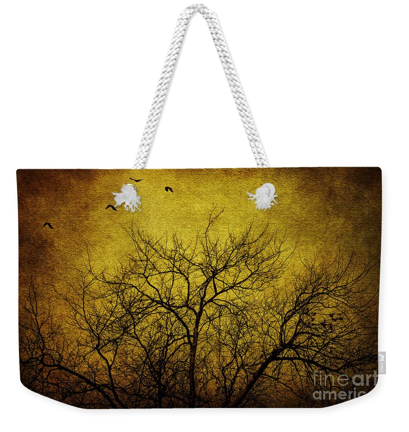 Tree Weekender Tote Bag featuring the photograph Departed by Andrew Paranavitana