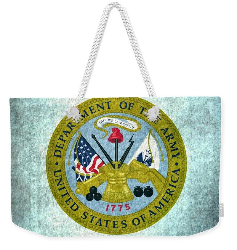 Department Of The Army Weekender Tote Bags