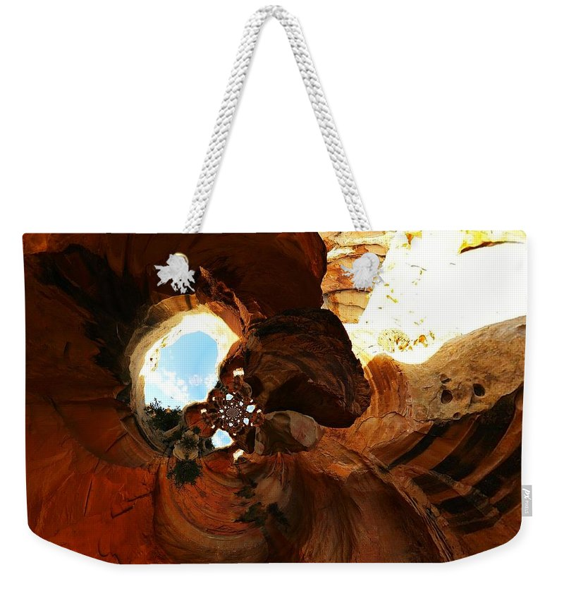 Desert Weekender Tote Bag featuring the photograph Desert Abstract by Jeff Swan