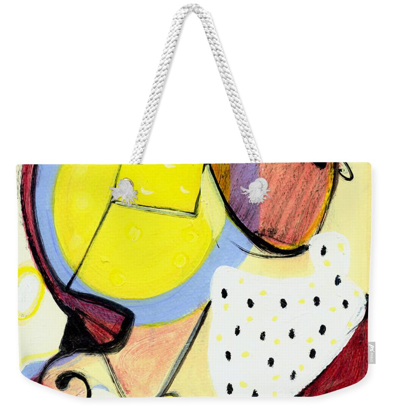 Abstract Art Weekender Tote Bag featuring the painting Desert Bloom by Stephen Lucas