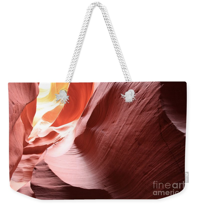 Arizona Slot Canyon Weekender Tote Bag featuring the photograph Desert Delight by Adam Jewell