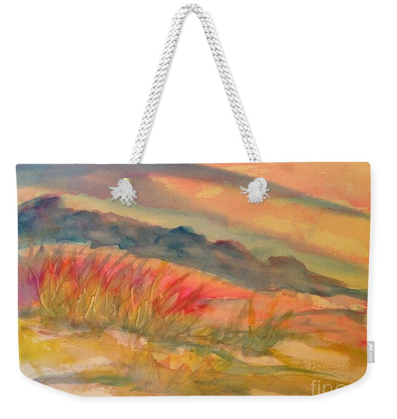 Arizona Weekender Tote Bag featuring the painting Desert Dreams by Dona Dugay