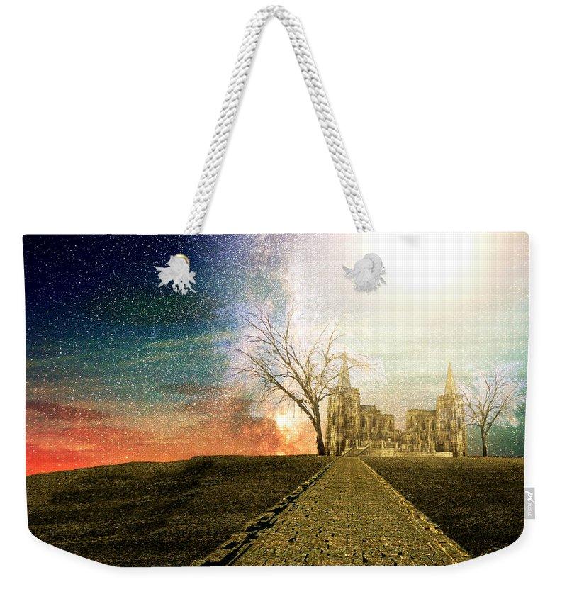 Desert Kingdom Weekender Tote Bag featuring the digital art Desert Kingdom by Ally White