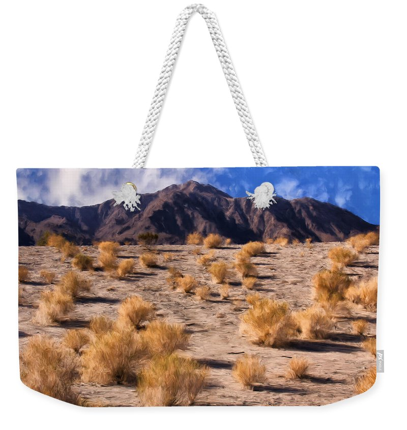 Light Weekender Tote Bag featuring the Desert Light And Shadow by Dominic Piperata