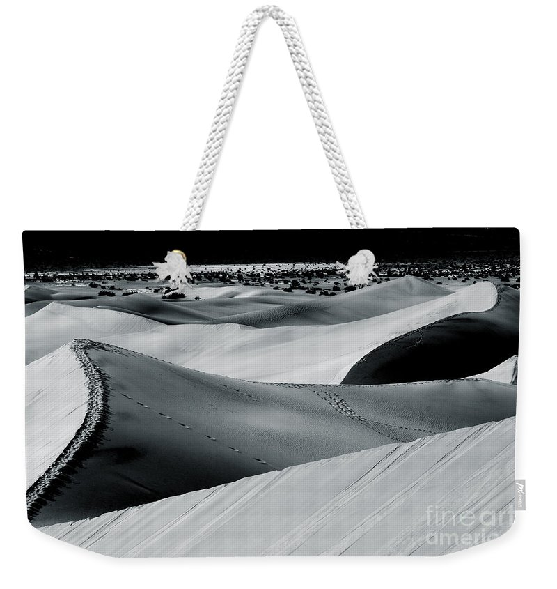 Mesquite Dunes Weekender Tote Bag featuring the photograph Desert Night Death Valley By Diana Sainz by Diana Raquel Sainz