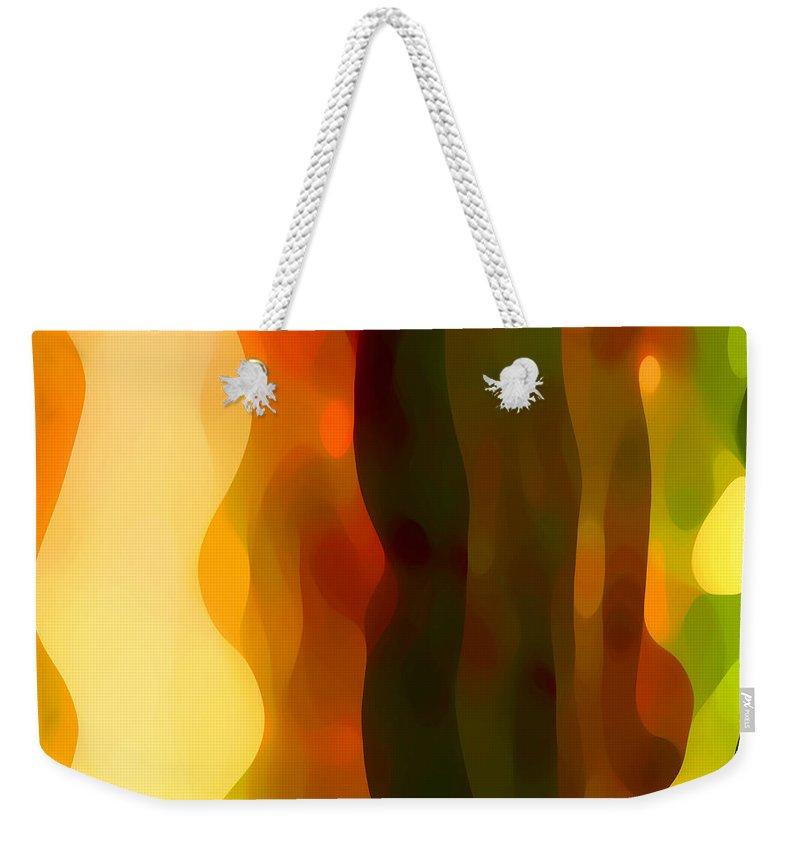 Bold Weekender Tote Bag featuring the painting Desert Pattern 1 by Amy Vangsgard