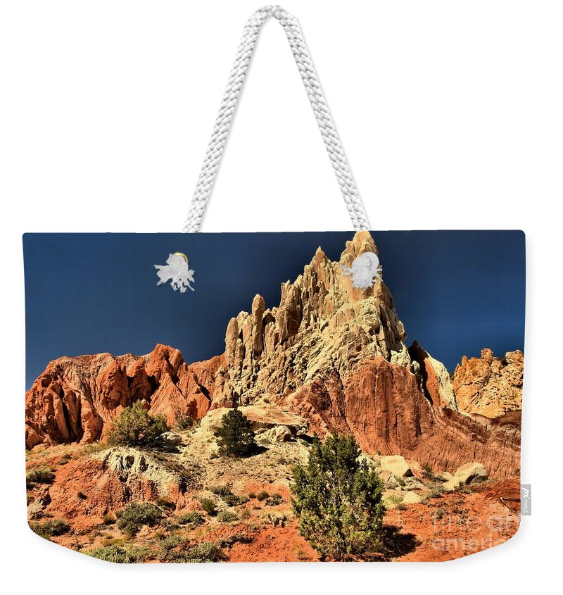 Cottonwood Road Weekender Tote Bag featuring the photograph Desert Rock Rainbows by Adam Jewell