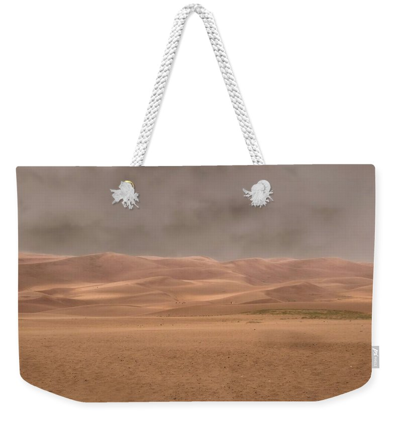 Desert Storm Weekender Tote Bag featuring the photograph Great Sand Dunes Approaching Storm by Dan Sproul
