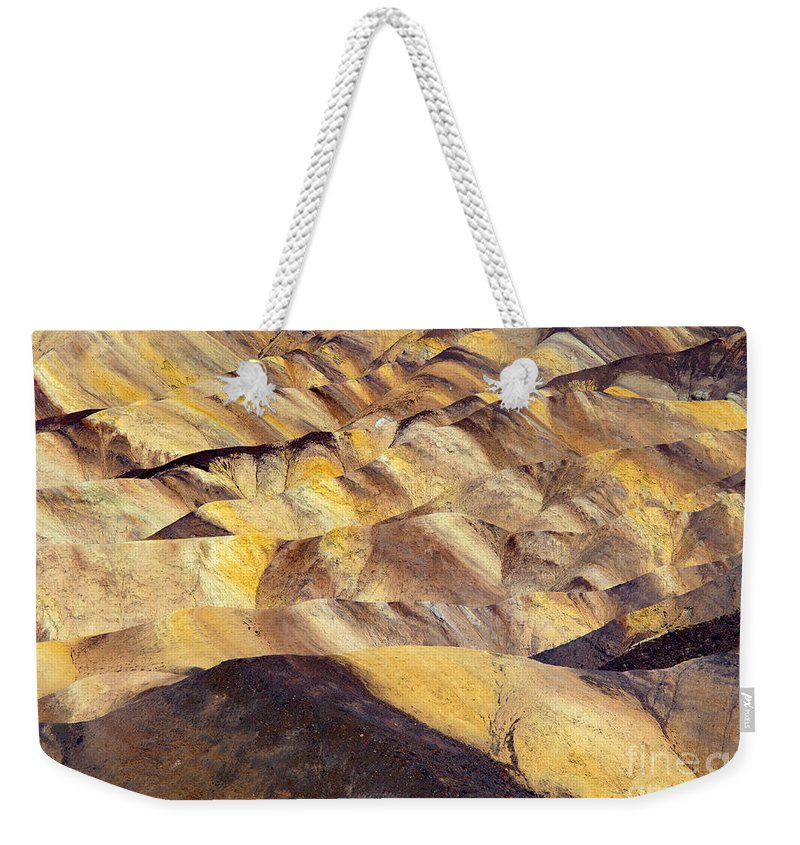 Zabriskie Point Weekender Tote Bag featuring the photograph Desert Undulations by Mike Dawson