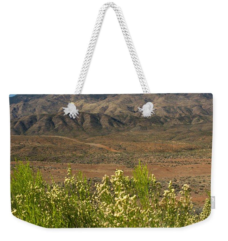 Desert Weekender Tote Bag featuring the photograph Desert Valley Scene 7 by Douglas Barnett