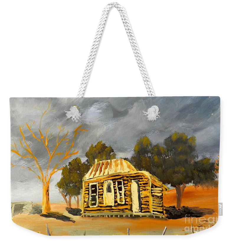 Impressionism Weekender Tote Bag featuring the painting Deserted Castlemain Farmhouse by Pamela Meredith